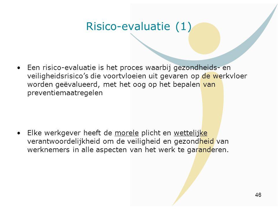 Risico-evaluatie (1)