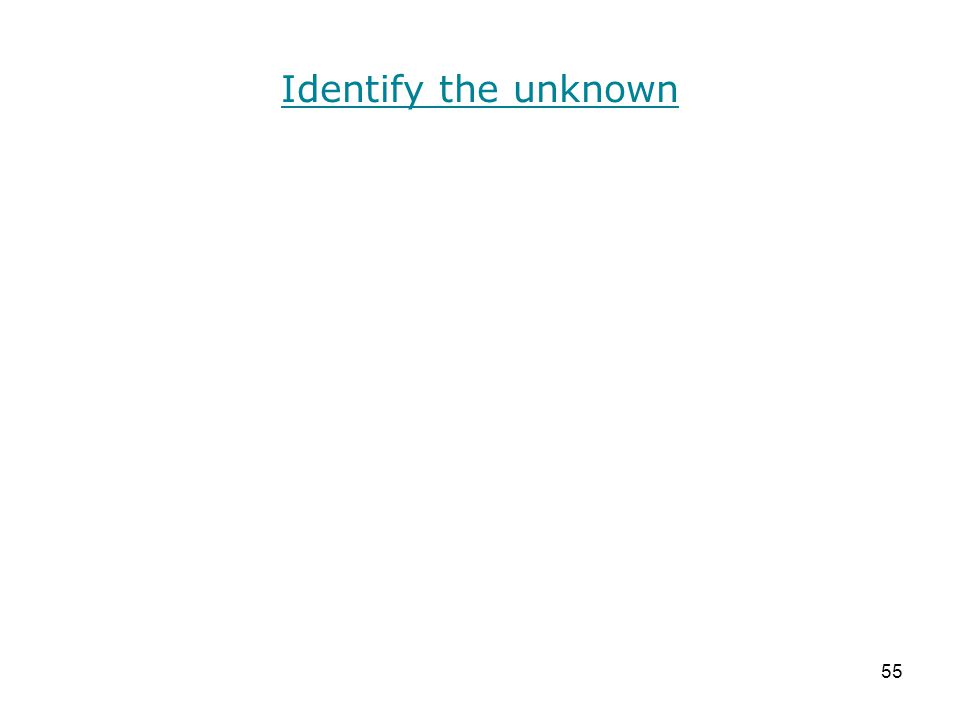 Identify the unknown