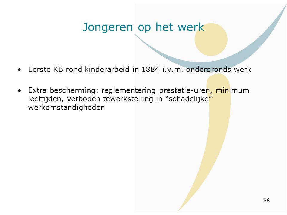 Jongeren op het werk Eerste KB rond kinderarbeid in 1884 i.v.m. ondergronds werk.