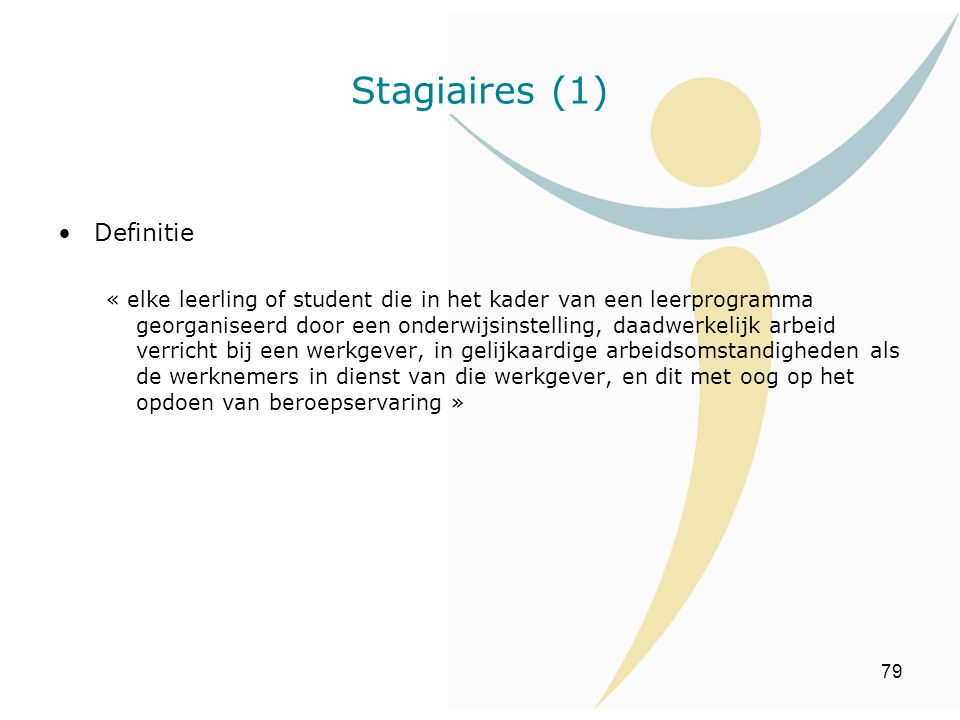 Stagiaires (1) Definitie
