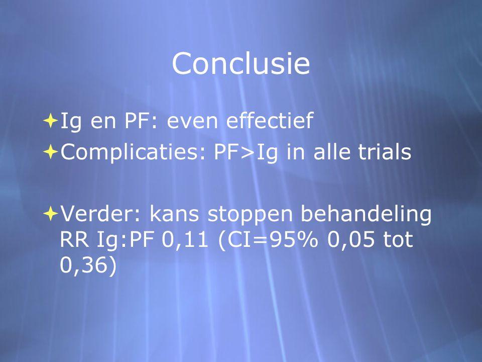 Conclusie Ig en PF: even effectief