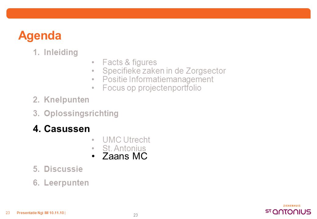 Planning Zaans Medisch Centrum
