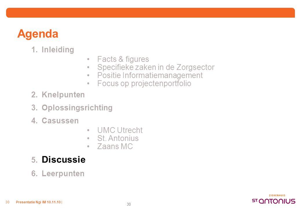 Agenda 6. Leerpunten Inleiding Facts & figures