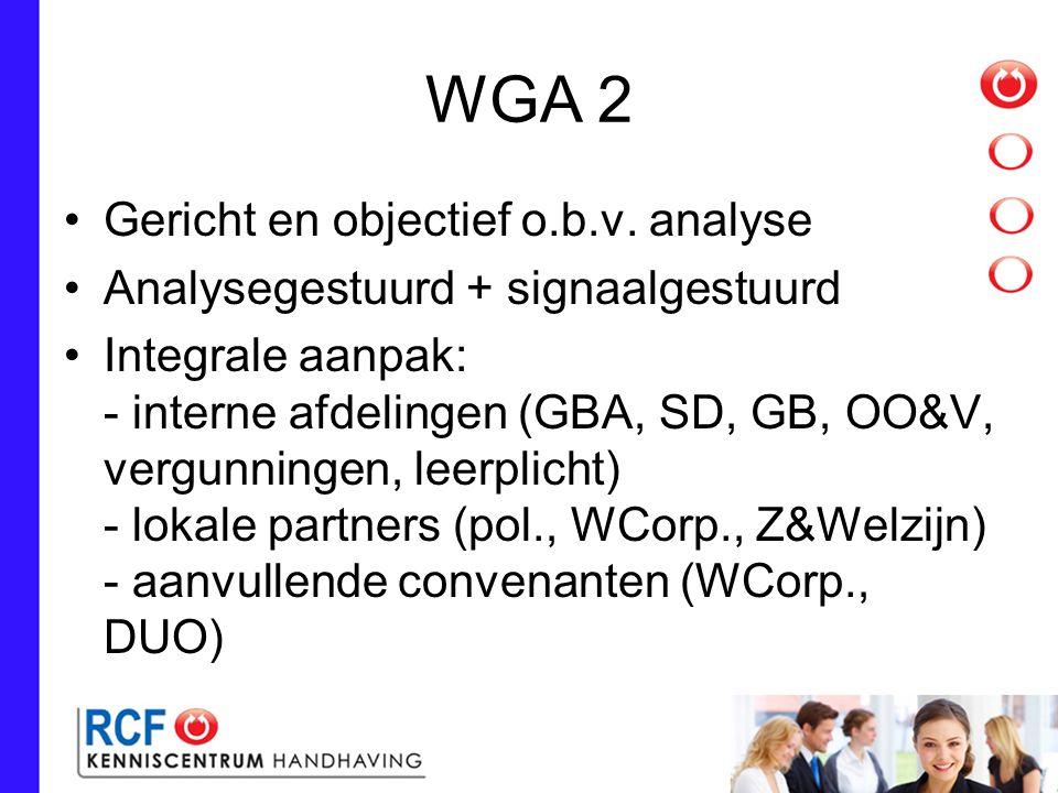 WGA 2 Gericht en objectief o.b.v. analyse