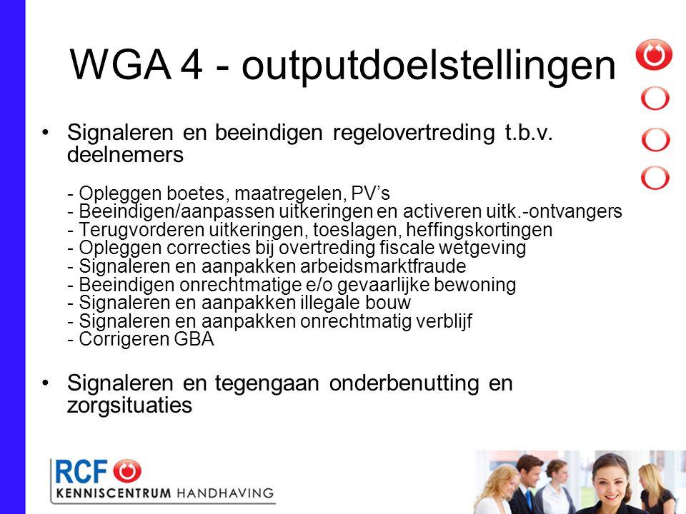 WGA 4 - outputdoelstellingen