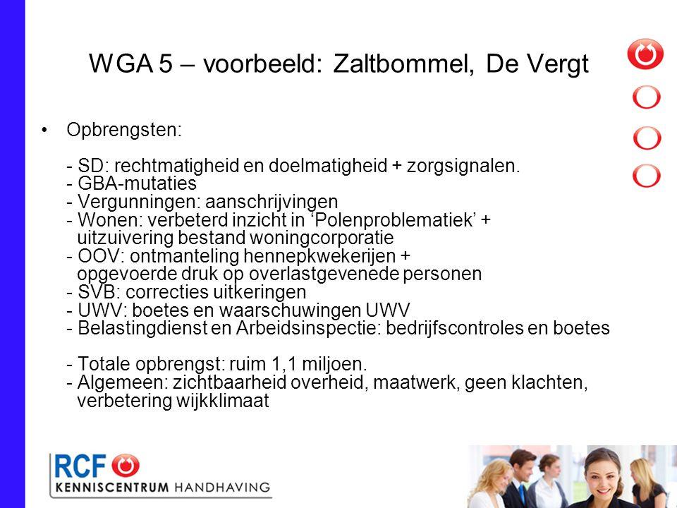 WGA 5 – voorbeeld: Zaltbommel, De Vergt