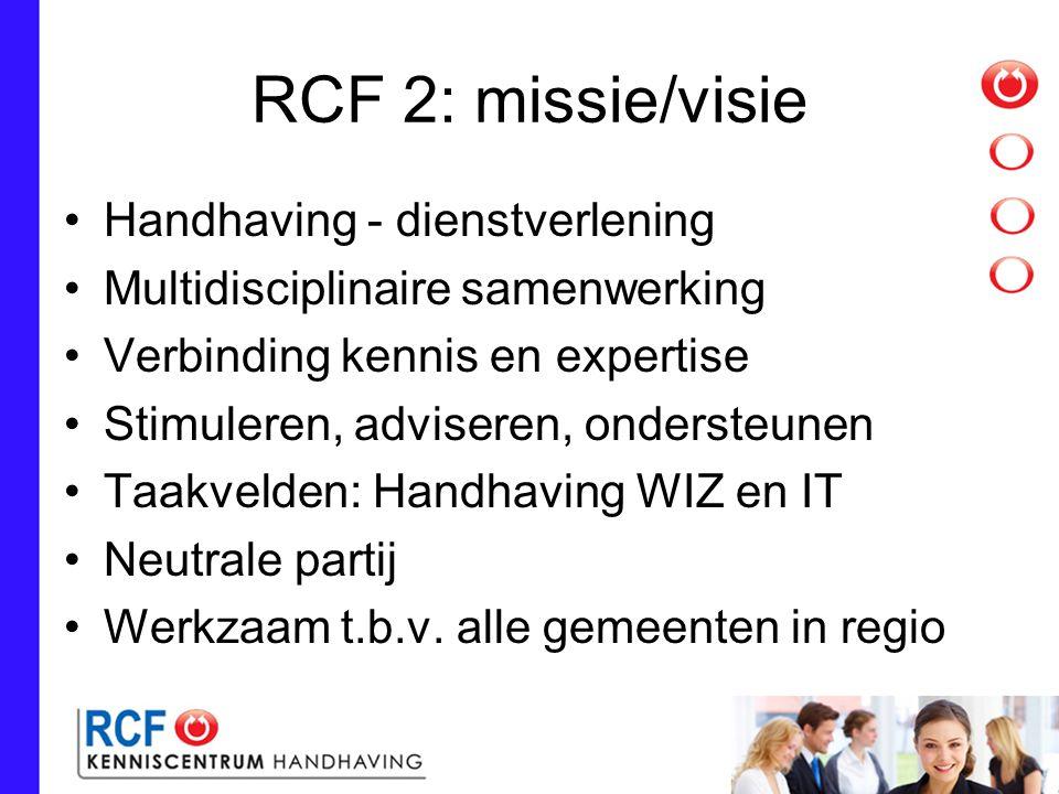 RCF 2: missie/visie Handhaving - dienstverlening