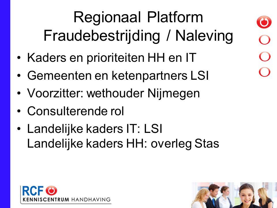 Regionaal Platform Fraudebestrijding / Naleving