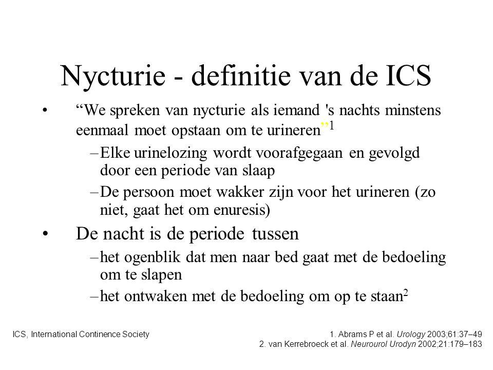 Nycturie - definitie van de ICS
