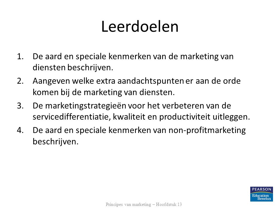Principes van marketing – Hoofdstuk 13