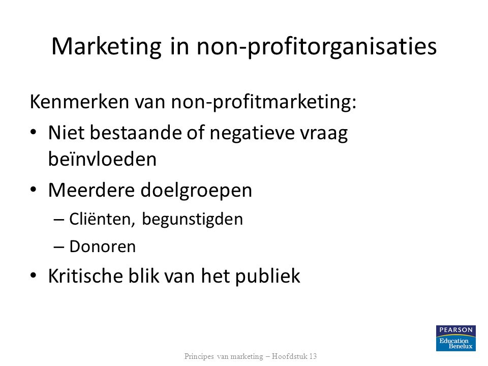 Marketing in non-profitorganisaties