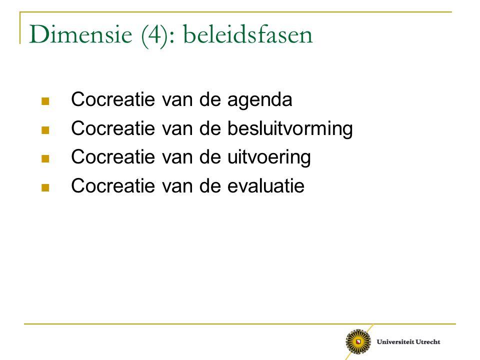 Dimensie (4): beleidsfasen