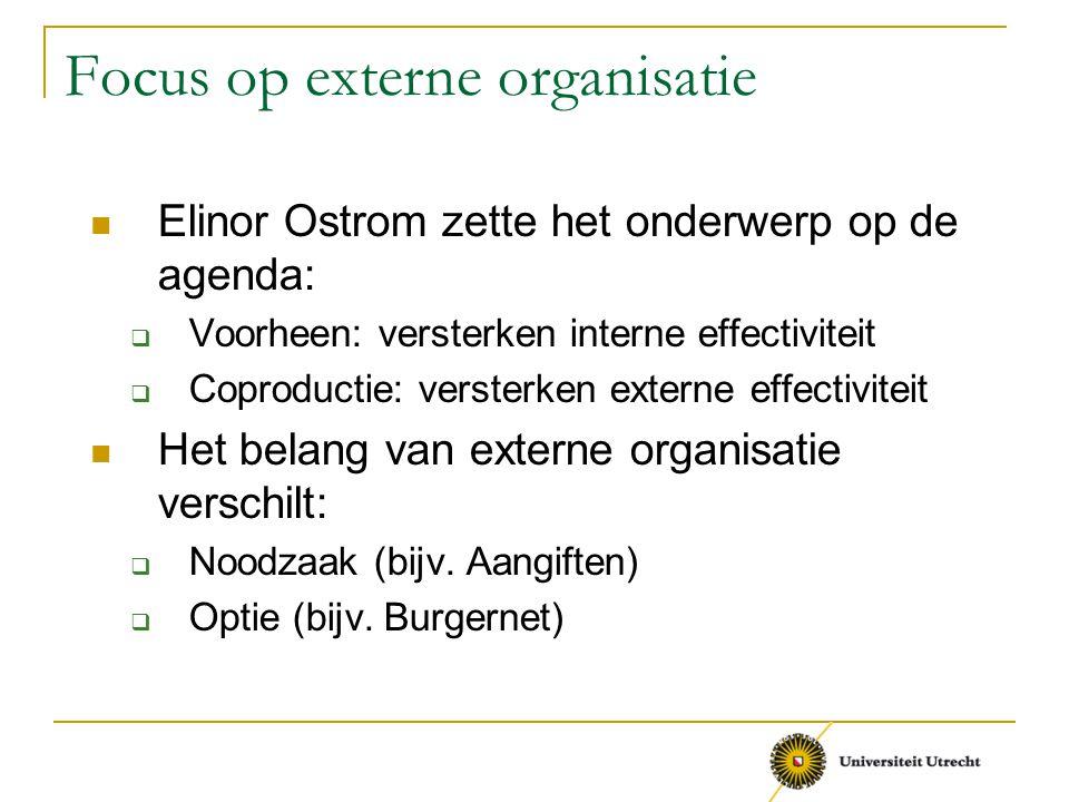 Focus op externe organisatie