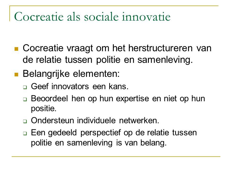 Cocreatie als sociale innovatie