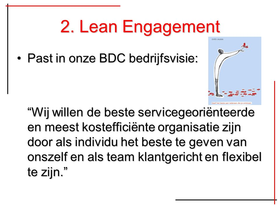 2. Lean Engagement Past in onze BDC bedrijfsvisie:
