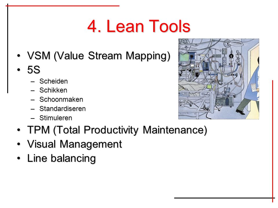 4. Lean Tools VSM (Value Stream Mapping) 5S