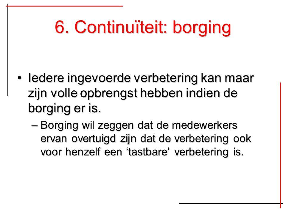 6. Continuïteit: borging