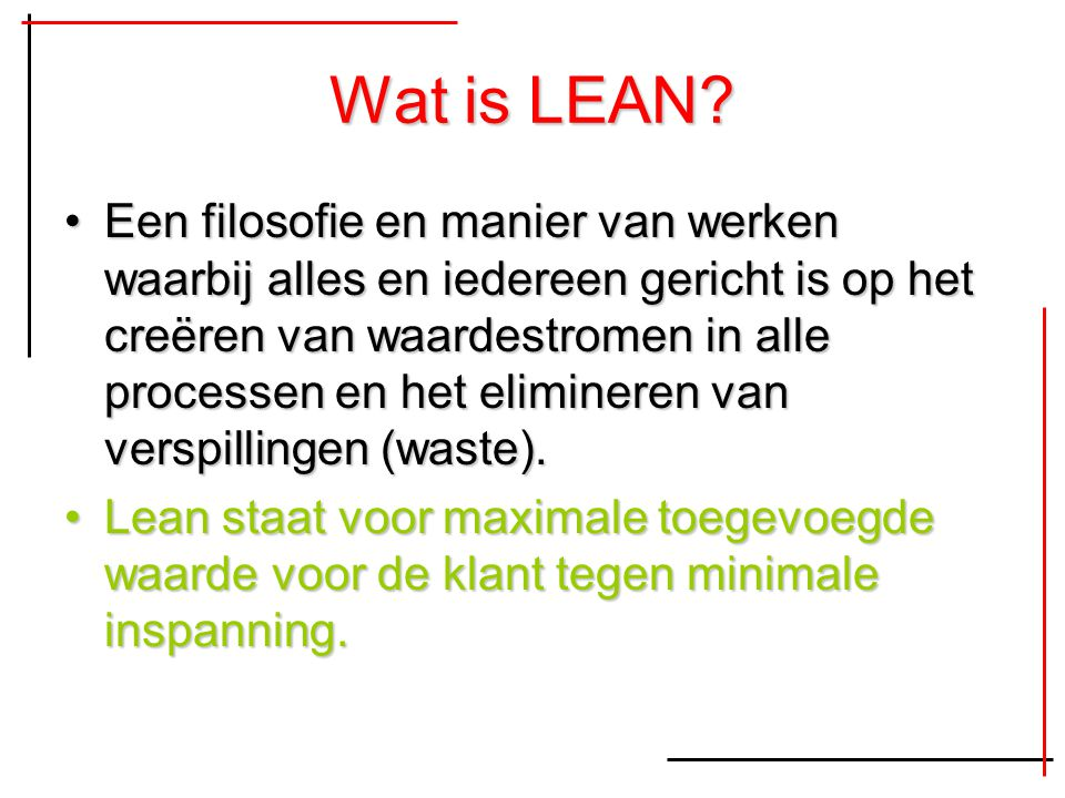 Wat is LEAN
