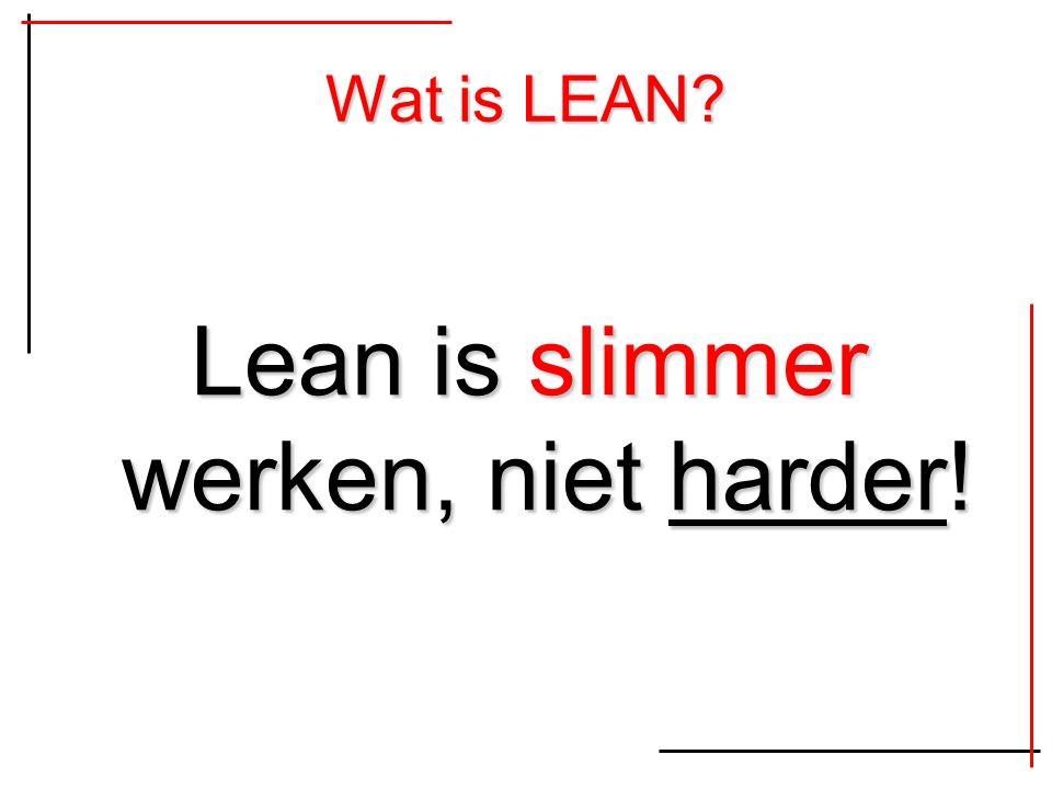 Lean is slimmer werken, niet harder!