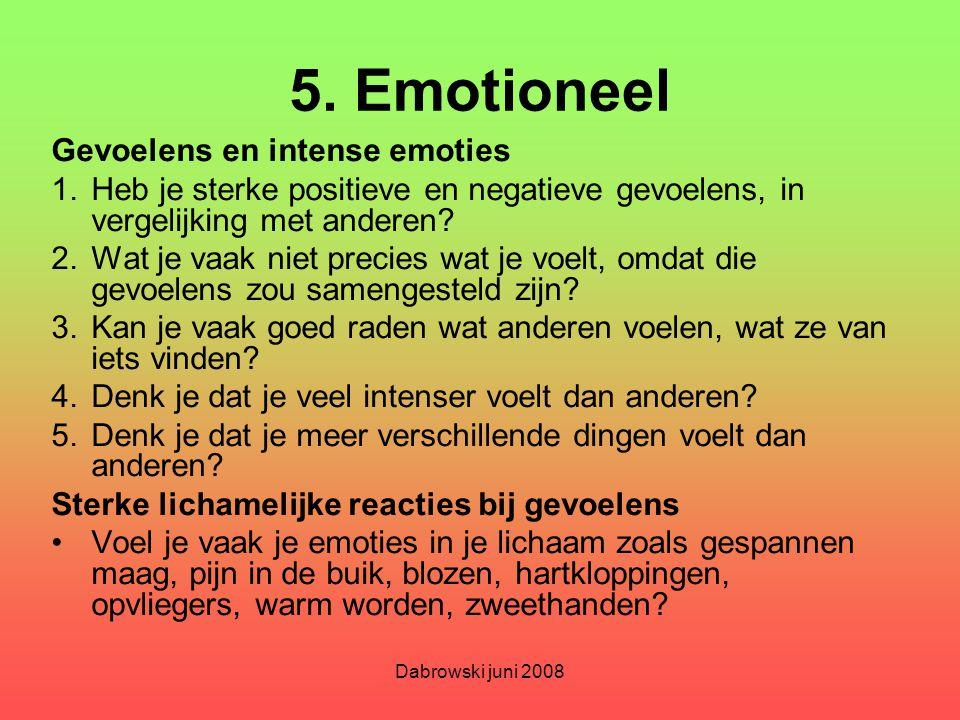 5. Emotioneel Gevoelens en intense emoties