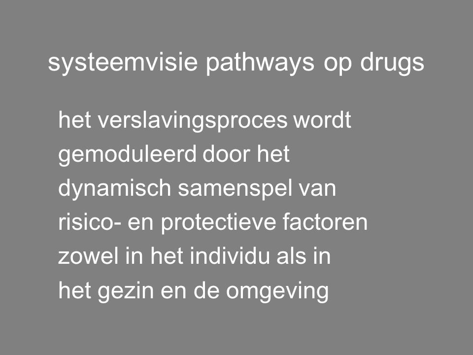 systeemvisie pathways op drugs