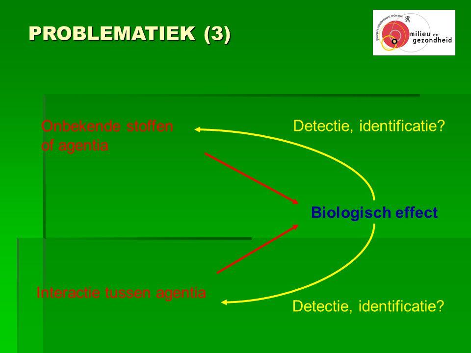 PROBLEMATIEK (3) Onbekende stoffen Detectie, identificatie of agentia
