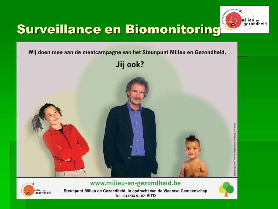 Surveillance en Biomonitoring