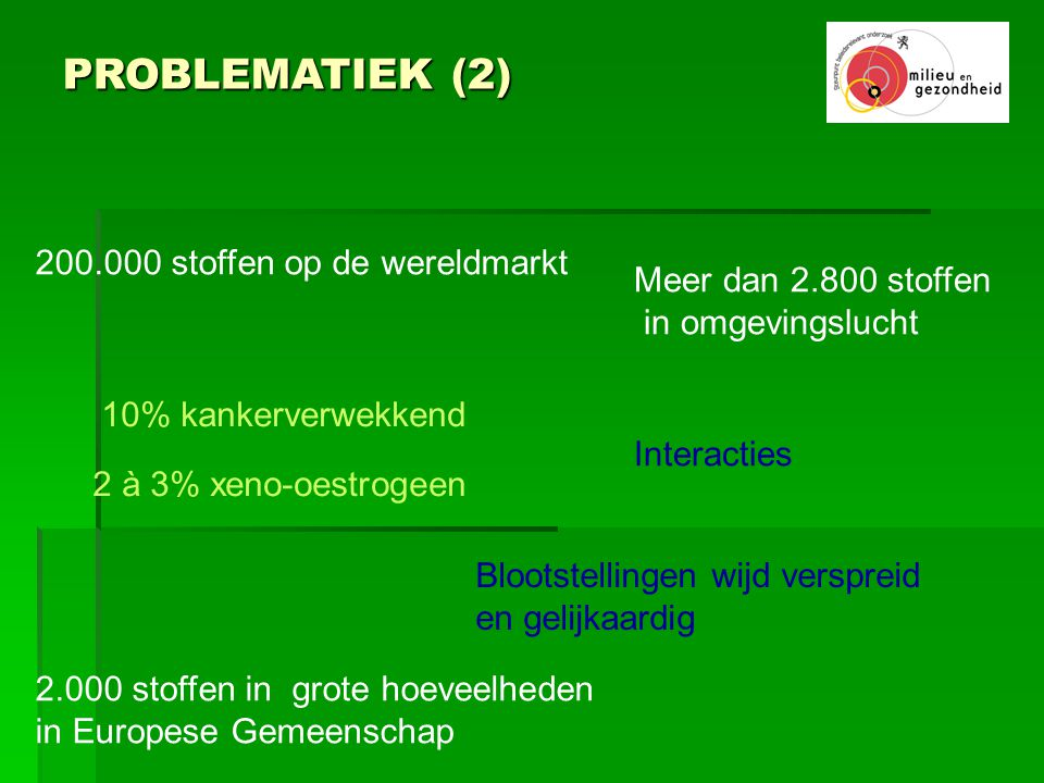 PROBLEMATIEK (2) 200.000 stoffen op de wereldmarkt