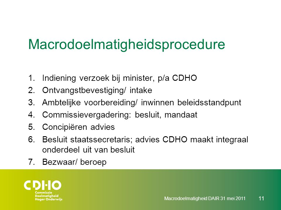 Macrodoelmatigheidsprocedure