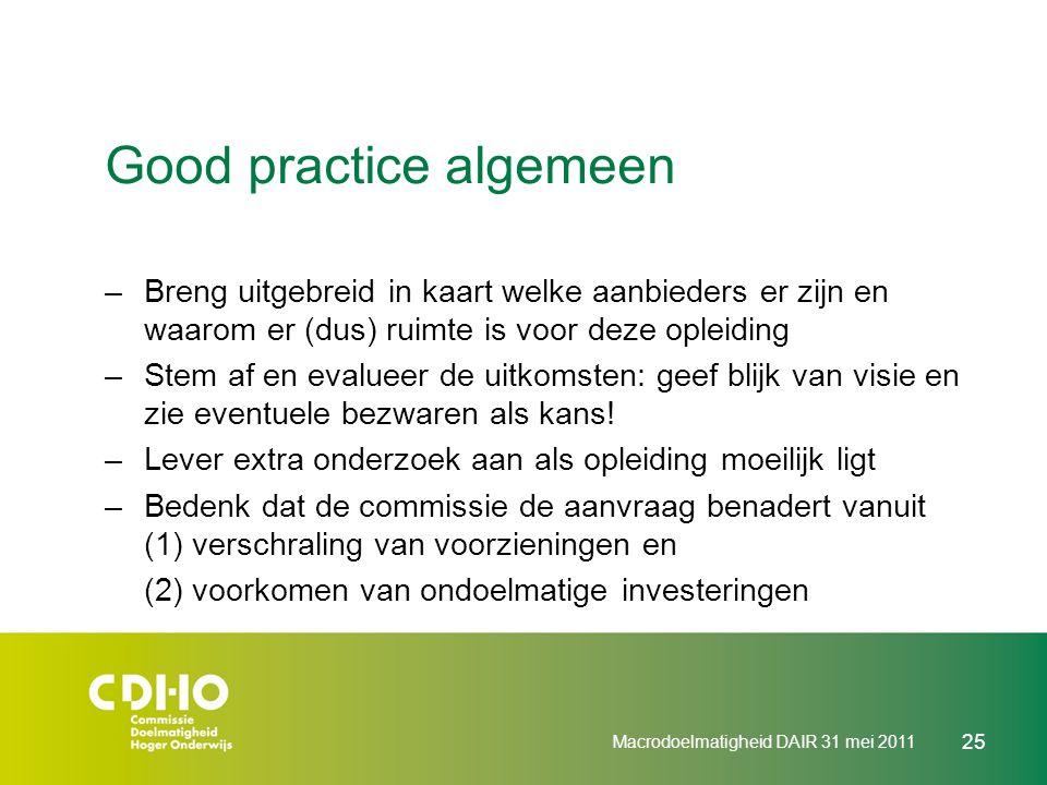 Good practice algemeen