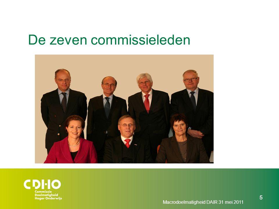 De zeven commissieleden