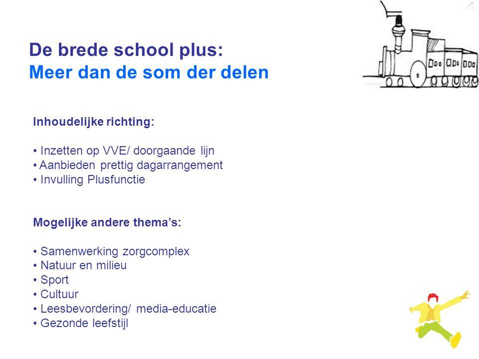 De brede school plus: Meer dan de som der delen