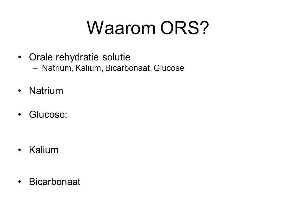 Waarom ORS Orale rehydratie solutie Natrium Glucose: Kalium
