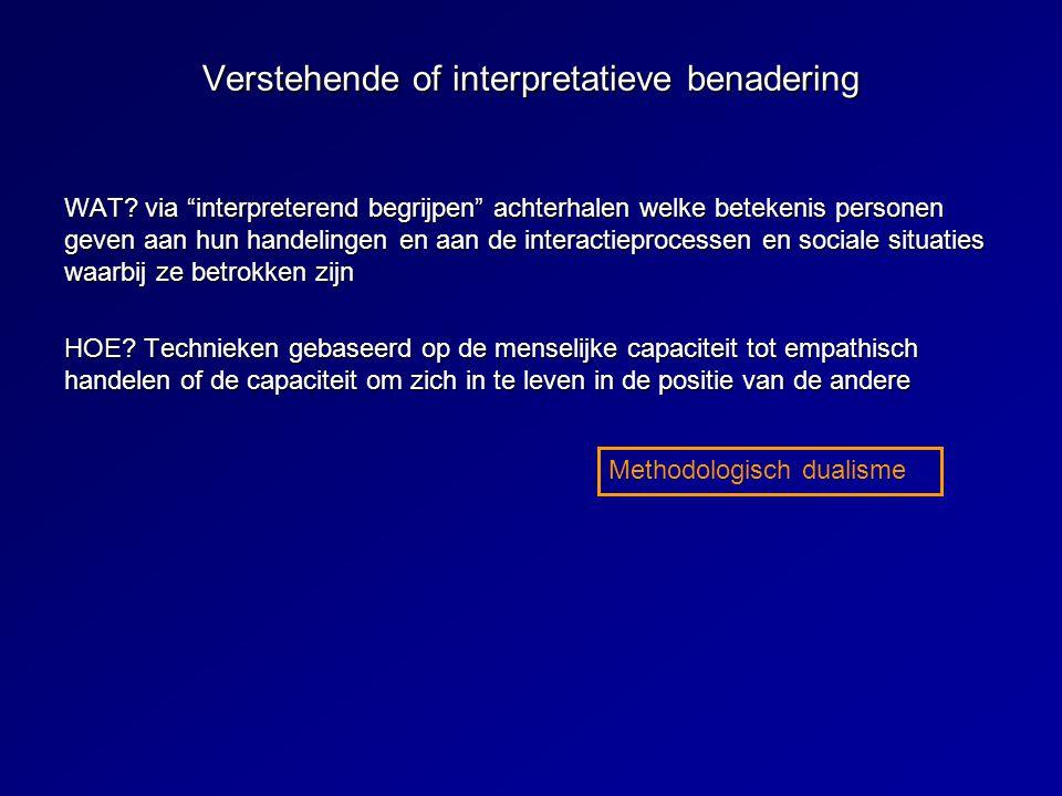 Verstehende of interpretatieve benadering