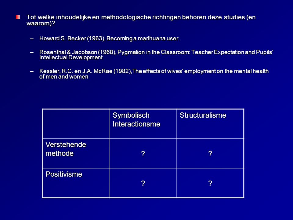 Symbolisch Interactionsme Structuralisme