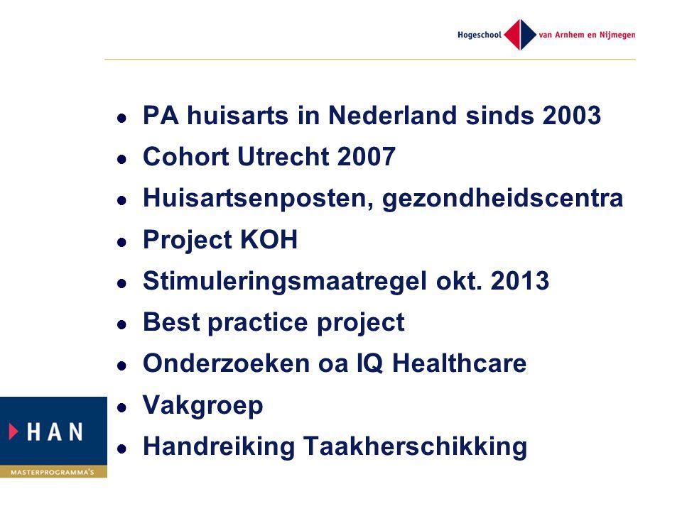 PA huisarts in Nederland sinds 2003