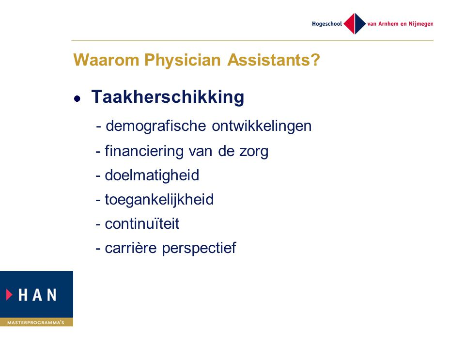 Waarom Physician Assistants