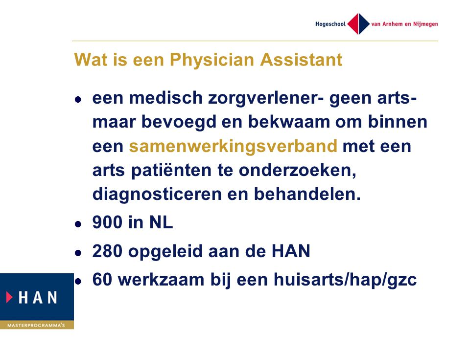 Wat is een Physician Assistant