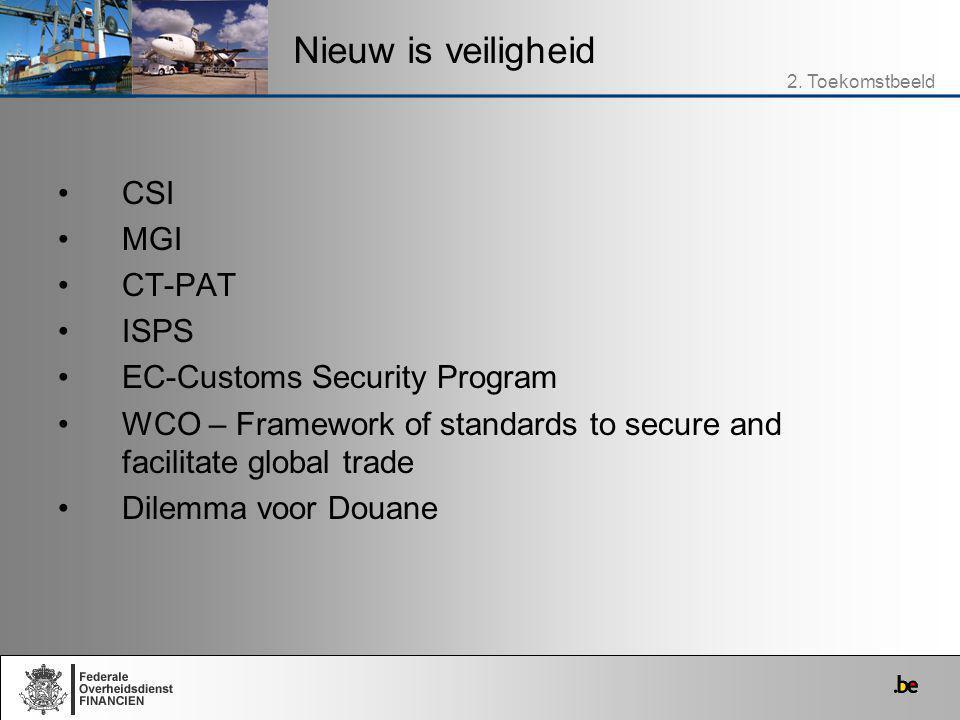 Nieuw is veiligheid CSI MGI CT-PAT ISPS EC-Customs Security Program