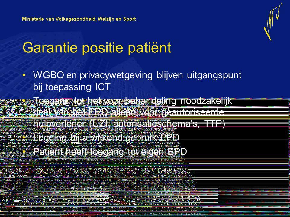 Garantie positie patiënt