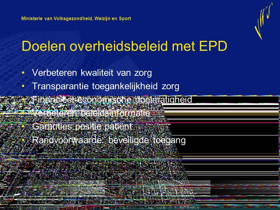 Doelen overheidsbeleid met EPD