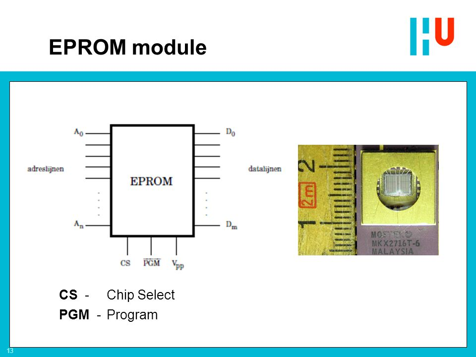 EPROM module CS - Chip Select PGM - Program