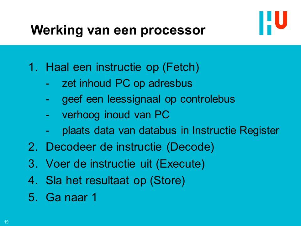 Werking van een processor