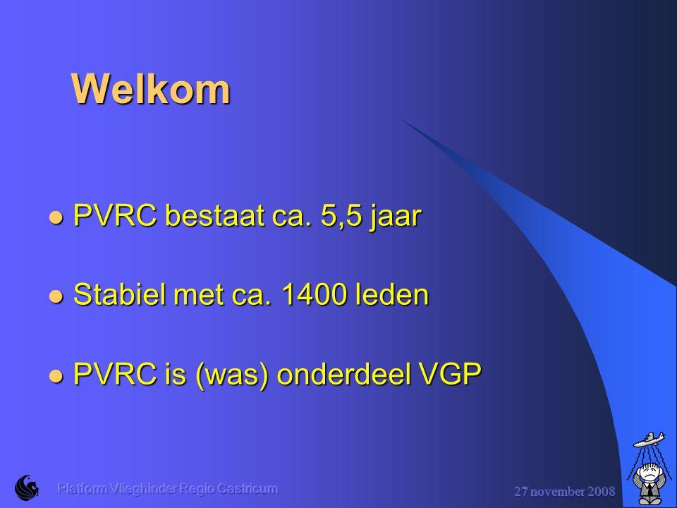 Welkom PVRC bestaat ca. 5,5 jaar Stabiel met ca. 1400 leden
