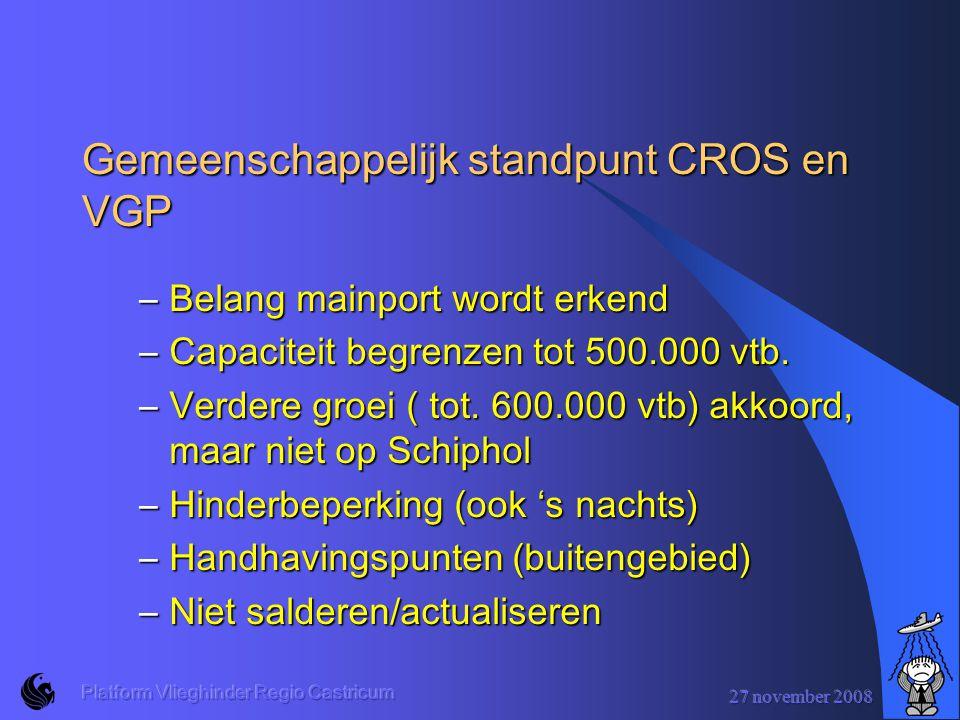 Gemeenschappelijk standpunt CROS en VGP