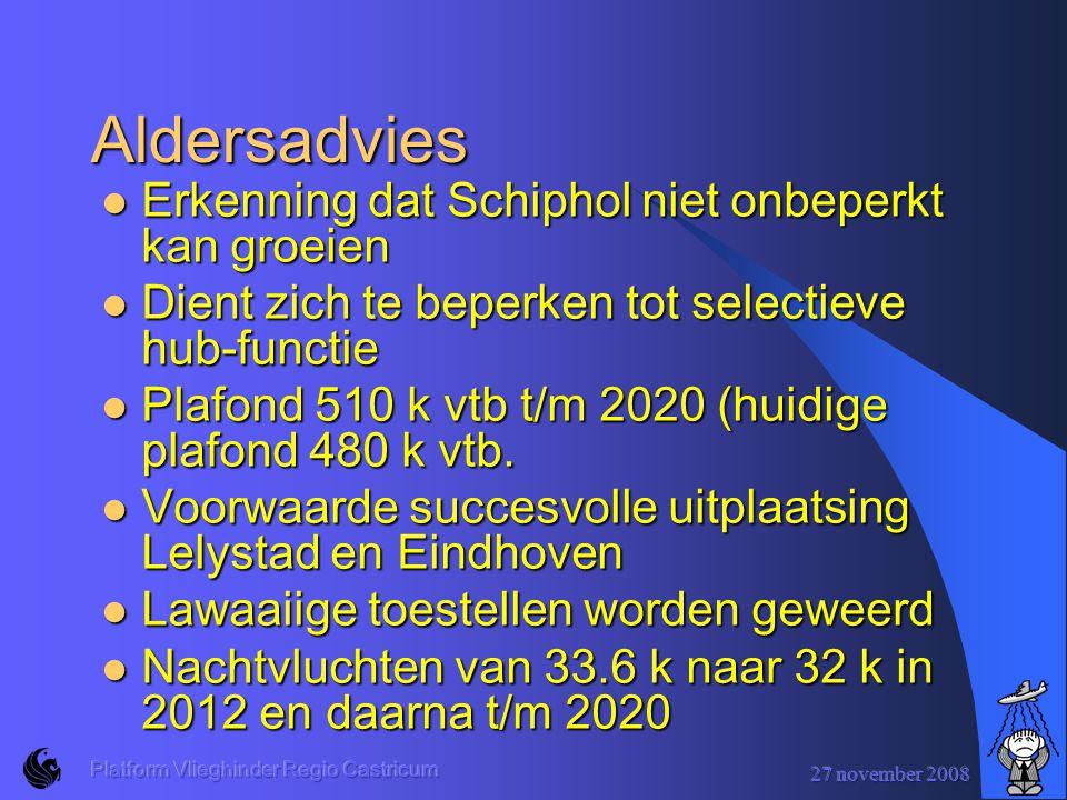 Aldersadvies Erkenning dat Schiphol niet onbeperkt kan groeien