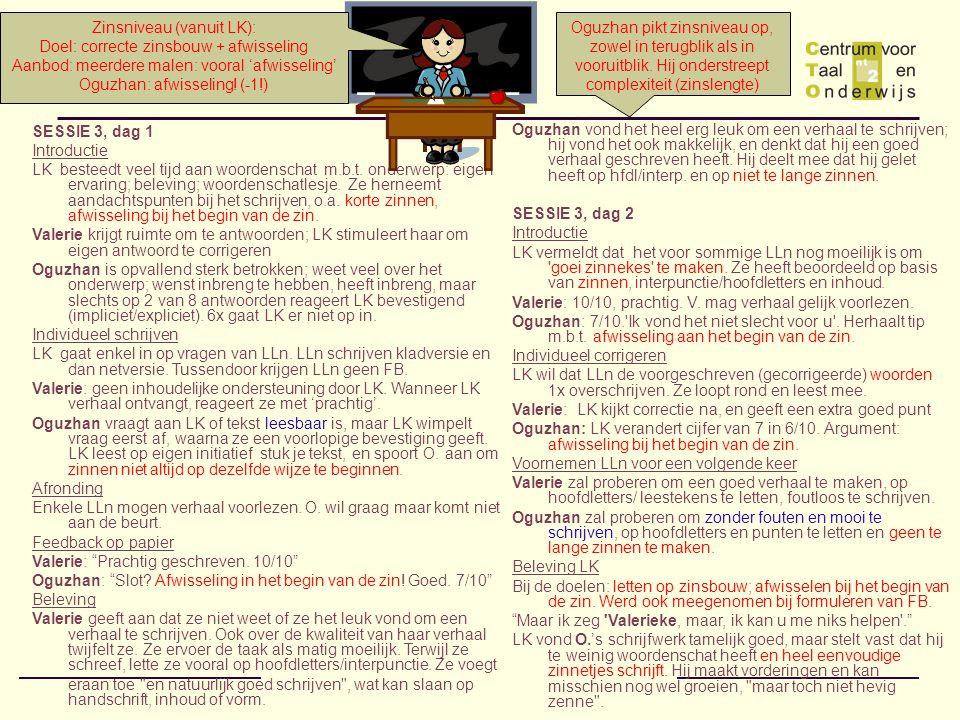 Zinsniveau (vanuit LK): Doel: correcte zinsbouw + afwisseling