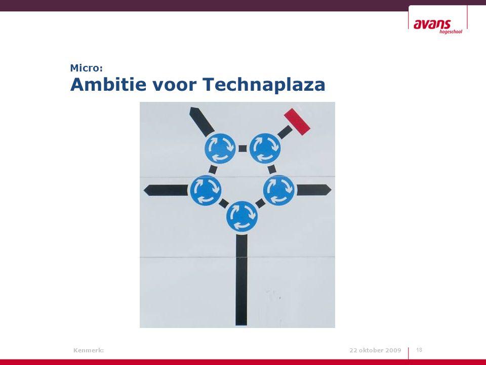 Micro: Ambitie voor Technaplaza