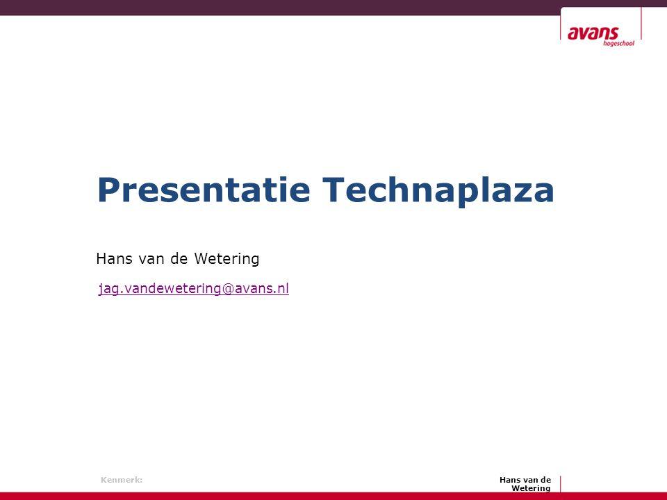 Presentatie Technaplaza