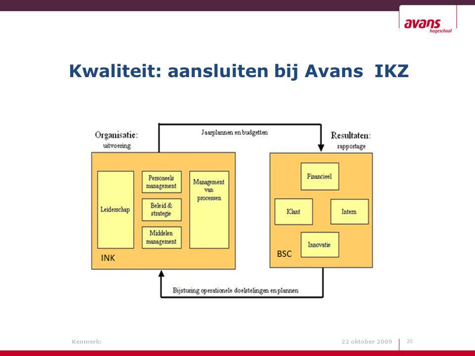 Kwaliteit: aansluiten bij Avans IKZ